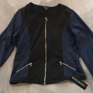 Notations Black and Blue Jacket